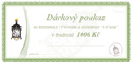Geschenkgutschein im Preis 1000 CZK