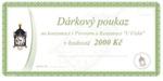 Geschenkgutschein im Preis 2000 CZK
