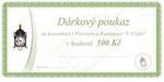 Geschenkgutschein im Preis 500 CZK