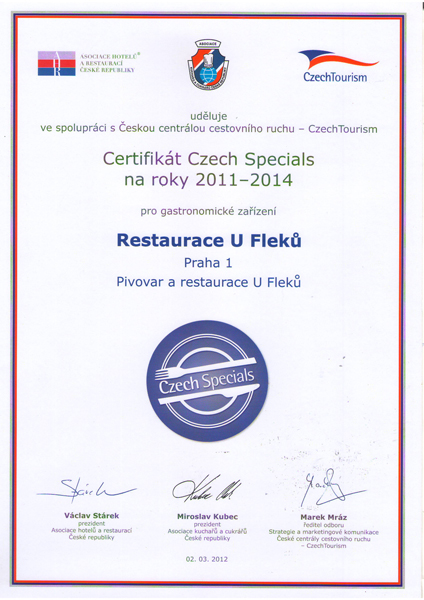 certifikat Czech Specials